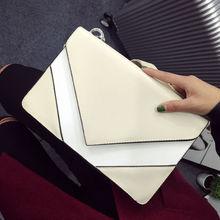 FREE SHIPING Fashion Stitching Ladies Handbag Envelope Bag Collision Color shoulder bag Messenger Small Bag Handbag