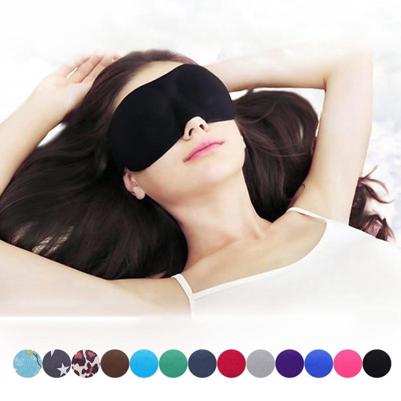 все цены на Unisex 3D Sleep Mask Relax Sleeping Eye Mask Shade Cover Adjust Blindfold Sleep Aid Eye Mask Portable Blindfold Travel Eyepatch онлайн