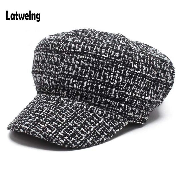 177c941fb1ef8 New Trending Autumn Winter Newsboy Caps For Women Beret Hats Fashion  Streetwear Visor Cap Black White Designer Hat Wholesale