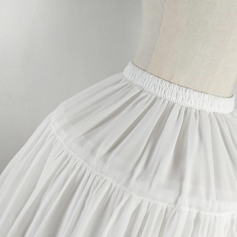 Image 5 - Lolita Chiffon Cosplay Petticoat Underskirt Short Women Black Petticoat Wedding Accessories 2018Petticoats   -
