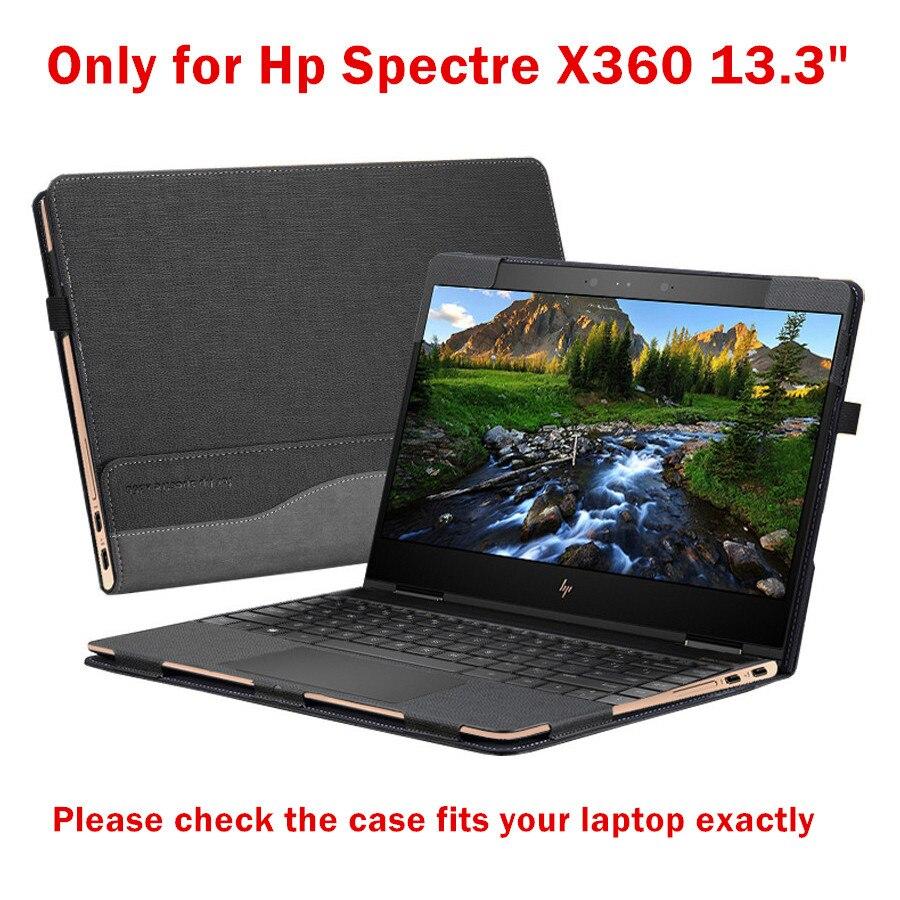 Housse d'ordinateur portable détachable pour Hp Spectre X360 13.3 pouces Design créatif étui à manches en cuir Pu stylet de peau comme cadeau