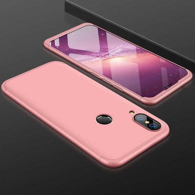 360 Degree Full Back Cover For Huawei P20 Lite Nova 3e Case 3 In 1 Hard PC Case Protector Original Case For Huawei P20 Lite Case