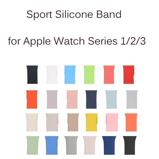 Substituição Do Esporte Pulseira de Silicone para A Apple Assista Pulseira Strap Banda para iWatch Série 1/2/3 Pulseira 42mm 38mm