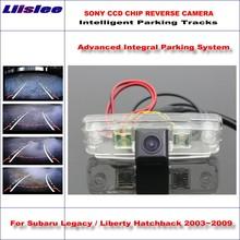 Liislee Backup Rear Reverse Camera For Subaru Legacy / Liberty Hatchback 2003~2009 HD 860 Pixels Intelligent Parking Tracks