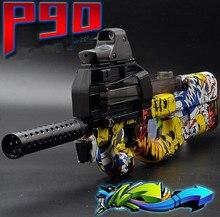 Enfriar P90 Eléctrica Pistola de Juguete Graffiti Edición En Vivo CS Asalto Snipe Ráfagas de Bala Pistola arma de Agua Blanda Divertidos Juguetes Para Niños Al Aire Libre