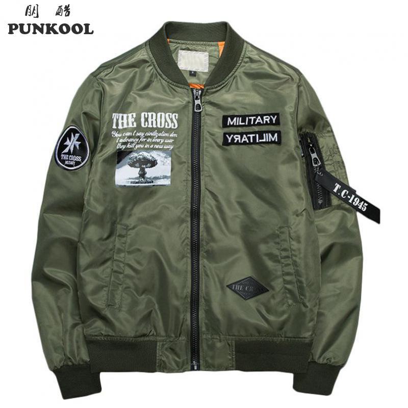 Aliexpress.com : Buy PUNKOOL Bomber Jacket Men Spring & Autumn ...