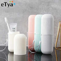 eTya Simple Fashion Travel Toothbrush Cover Protection Box Wash Makeup Bag Women Men Toiletries Storage Pouch Waterproof Case