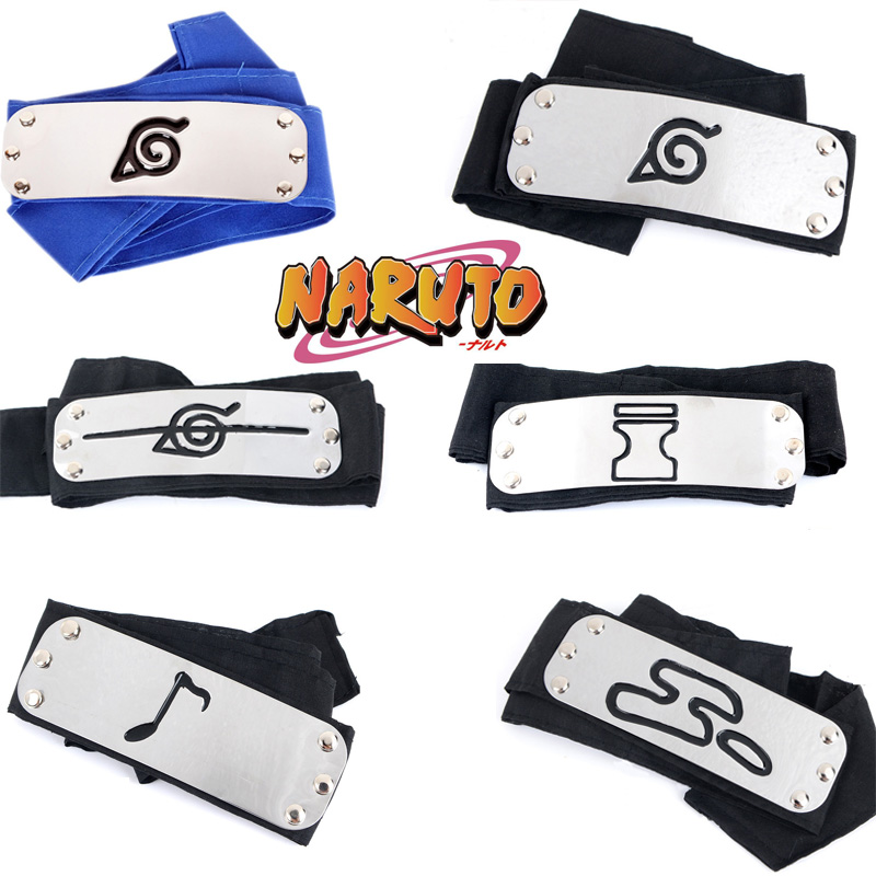 Anime Naruto Headband Cosplay Props Uchiha Itachi Kakashi  Akatsuki Pain Headwear Girls Boy Uzumaki Accessories