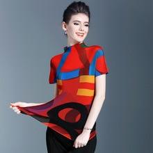 Japão encabeça 2017 novas roupas femininas plissado dobre pregas gola subrevestimento T-shirt gola fino tshirt frete grátis