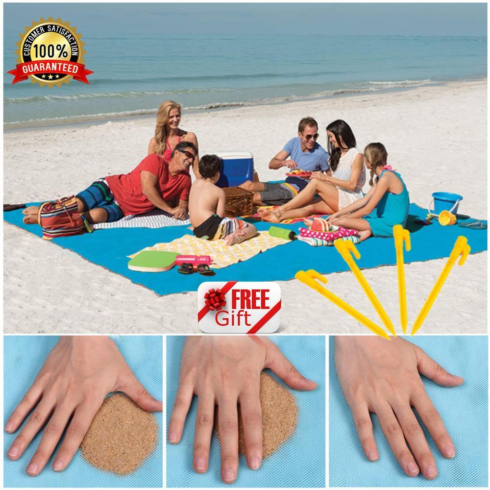 150x200cm Magic Sand Free Beach Mat Camping Outdoor Picnic Large Mattress Waterproof Bag Drop Shipping