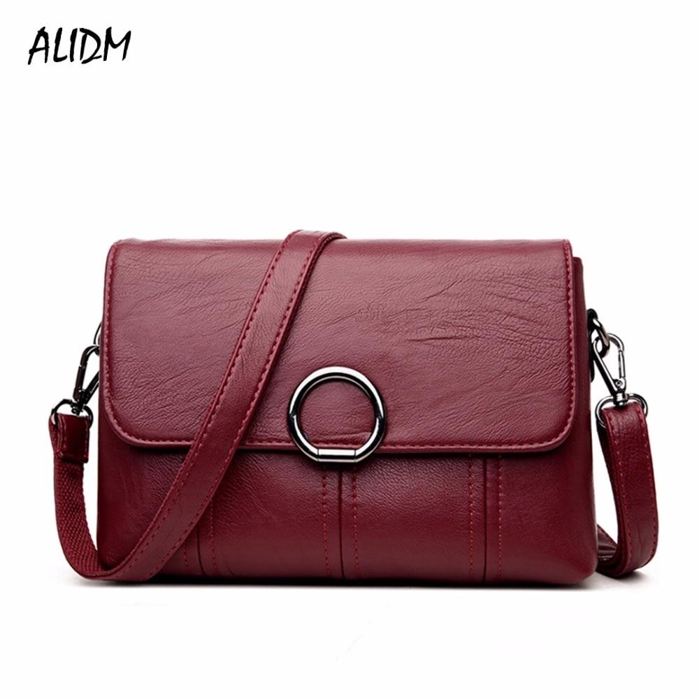 ALIDM Brand High Quality Women Crossbody Bags Female Totes Handbags Women Bag Handbags Solid Leather Messenger Shoulder Bag