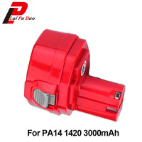 3.0Ah 14.4V NI MH Power Tool Rechargeable Battery For Makita PA14 1420 1422 1433,1434,1051DWD,193158 3,4033DZ,6228DW,5630DWD