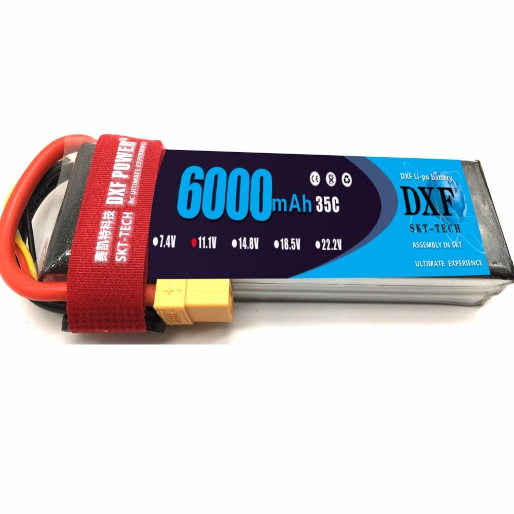DXF 3 s 11.1 V lipo Bateria 6000 mah 35C Max 60C Lipo batterij AKKU - Radiografisch bestuurbaar speelgoed