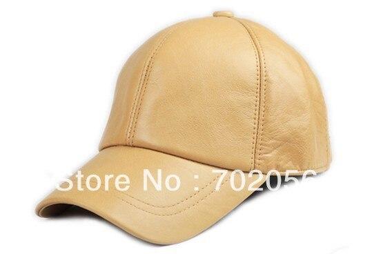 Unisex Fashion real leather Baseball CAP Ball Cap sheepskin Leather hat Stylish Baseball Ball Cap hats 12pcs/lot #3095 leather skullies cap hats 5pcs lot 2278