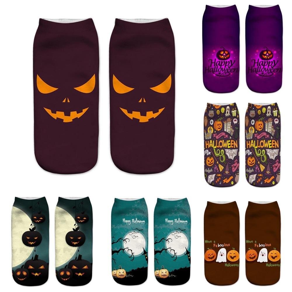 Cute Casual  Business Socks 3D Halloween Pumpkin Printing Medium Sports Socks Novelty Starry Night Vintage Socks HOT