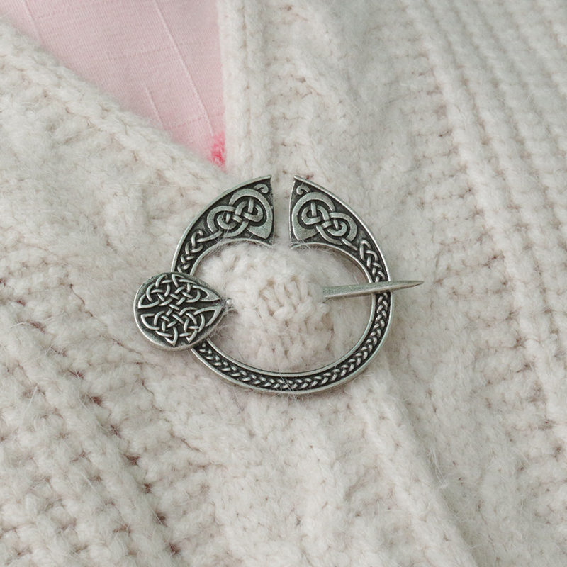 lanseis 1pcs Viking pennanular brooch replica Viking jewellery replicas Antique victorian silver viking scottish pennanular replica ki134 7x18 5x114 3 d67 1 et41 silver