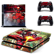 PS4 Deadpool Skin Stickers Decal For Sony PlayStation 4  Console & 2 Controllers