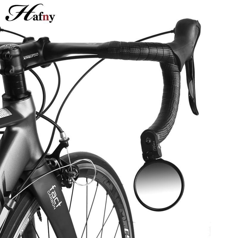 Manillar final bicicleta espejo lente de acero ciclismo espejo examen espejo para bicicleta de montaña bicicleta de carretera espejo accesorios para bicicletas