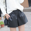 2016 Winter Women Elastic Waist Leather Shorts Loose Casual Plus Size Sexy Mini Shorts Pole Dance Bermuda Feminina women shorts