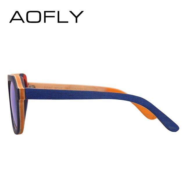 AOFLY BRAND DESIGN Men Sunglasses Bamboo Sunglasses Handmade Wooden Frame Polarized Mirror Lens Classic Gafas de sol UV400 AF618 3