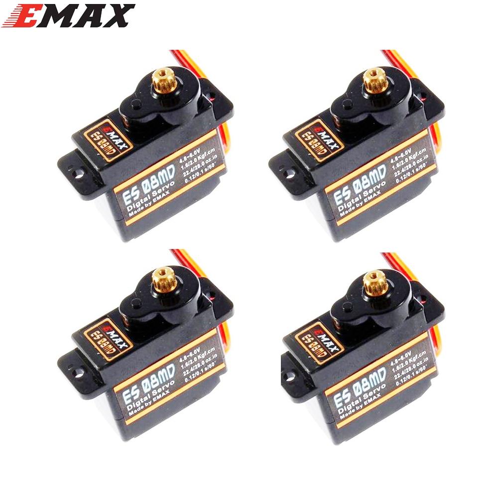 EMAX ES08MD 12g/2,0 kg/08 segundo Metal Mini Digital Servo disponibles con FUT JR macho para TREX 450
