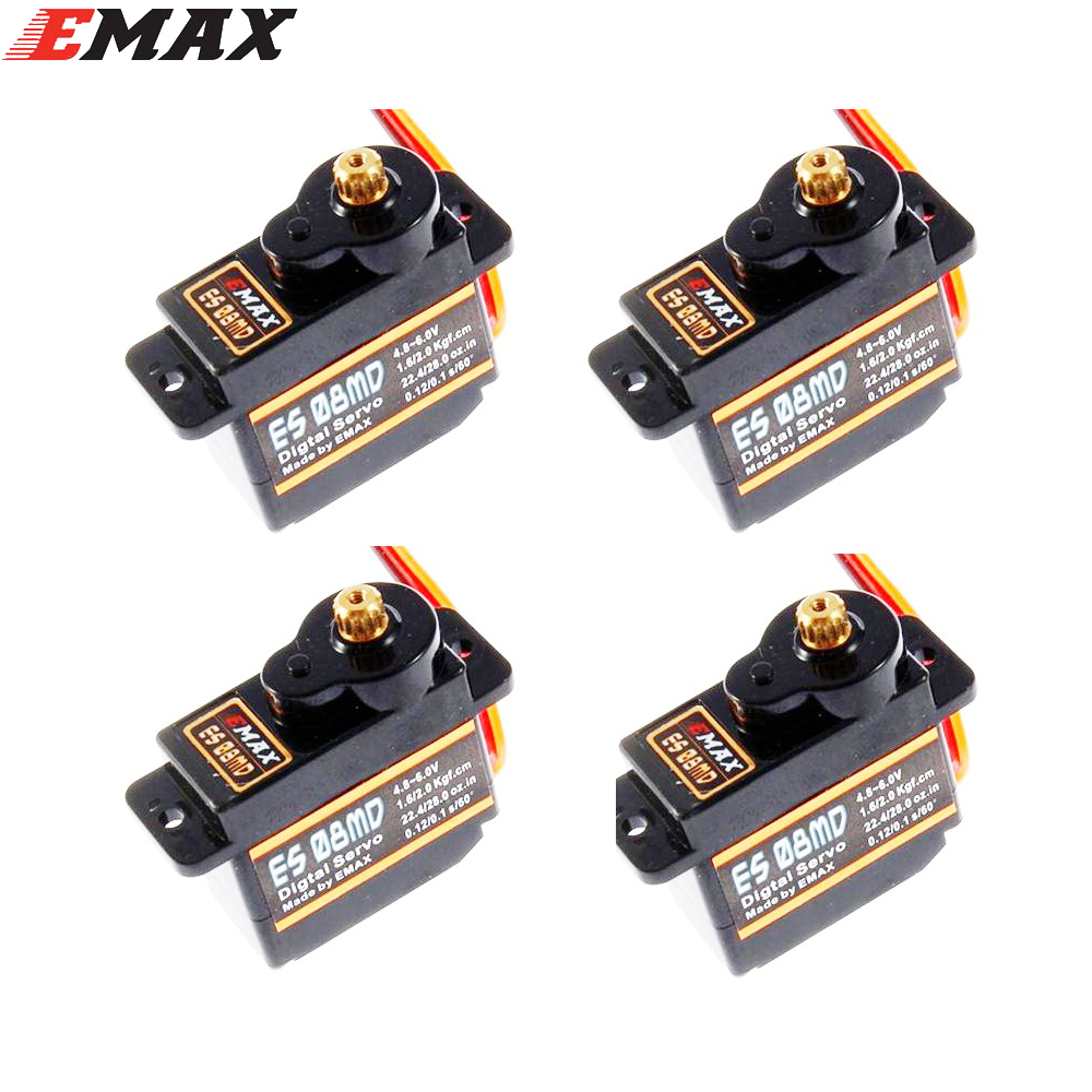EMAX ES08MD 12g/2.0kg/08 Sec Metal Mini Digital Servo Available with FUT JR Plug For TREX 450