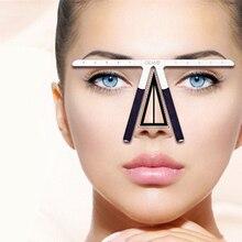 Permanent Makeup Tattoo Eyebrow Ruler Measure Tool Metal  Eyebrow Balance Ruler Shaping Stencil Tools