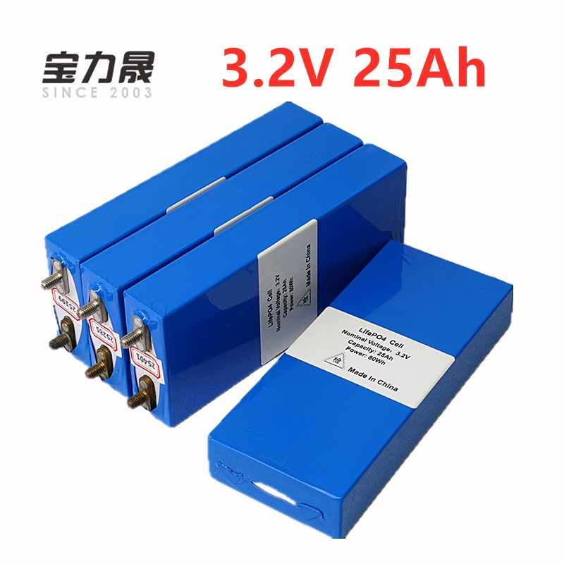 4PCS 3.2v 26ah LiFePo4 battery  rechargeable li polymer cell for 12V25AH battery pack e-bike 3C 75a convertor HID solar light