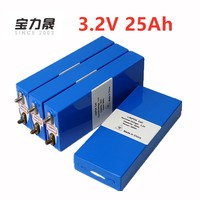 4PCS 3.2v 26ah LiFePo4 battery rechargeable li polymer cell for 12V25AH battery pack e bike 3C 75a convertor HID solar light