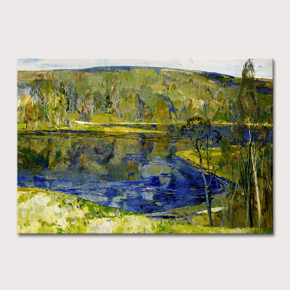 Hand Made Vincent Van Gogh Copy Impressionist Lake Landscape Oil Painting On Canvas Wall Art Picture