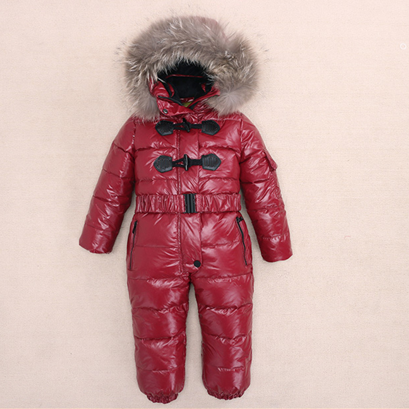 Baby Girls Warm Down Jacket Russia Winter -25 Degree Boys Rompers Thicking Suit Hoodie Children Outerwear Winter Jackets Coats baby girls warm down jacket russia winter 25 degree boys rompers thicking suit hoodie children outerwear winter jackets coats
