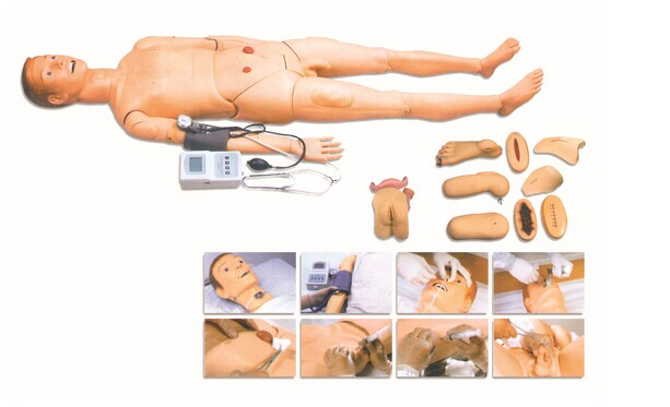 BIX-H2400 Full Function Nursing Training Manikin Have Blood Pressure Measure Nursing Simulator WBW072 bix h2400 advanced full function nursing training manikin with blood pressure measure w194
