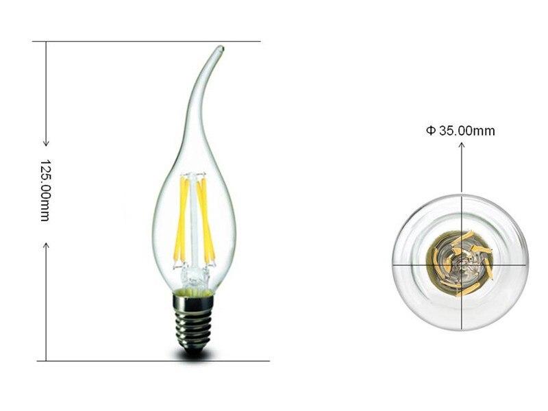 Lâmpadas Led e Tubos rxr b10 vela levou lâmpada Cover : Frosted