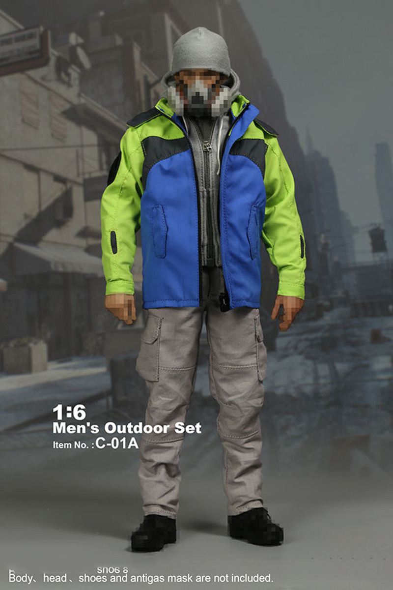 1/6 Scale Man's Outdoor Sports Clothes Set Casual Wear Suits Model for 12 inches Action Figures Accessories цена и фото