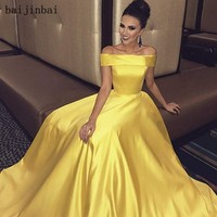 Long Prom Dress Vestido de Festa Floor Length Party Gown Evening Dress A Line Prom Dresses
