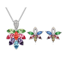 multi crystal drop fashion jewelry necklace and earrings jewelry sets wedding accessoriesG118