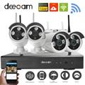 Deecam 4-канальный ИК HD домой безопасности Wifi беспроводной IP камеры системы 720P CCTV задать открытый Wifi камер видео NVR наблюдения CCTV комплект  видеонаблюдение видеонаблюдение камера видеонаблюдения