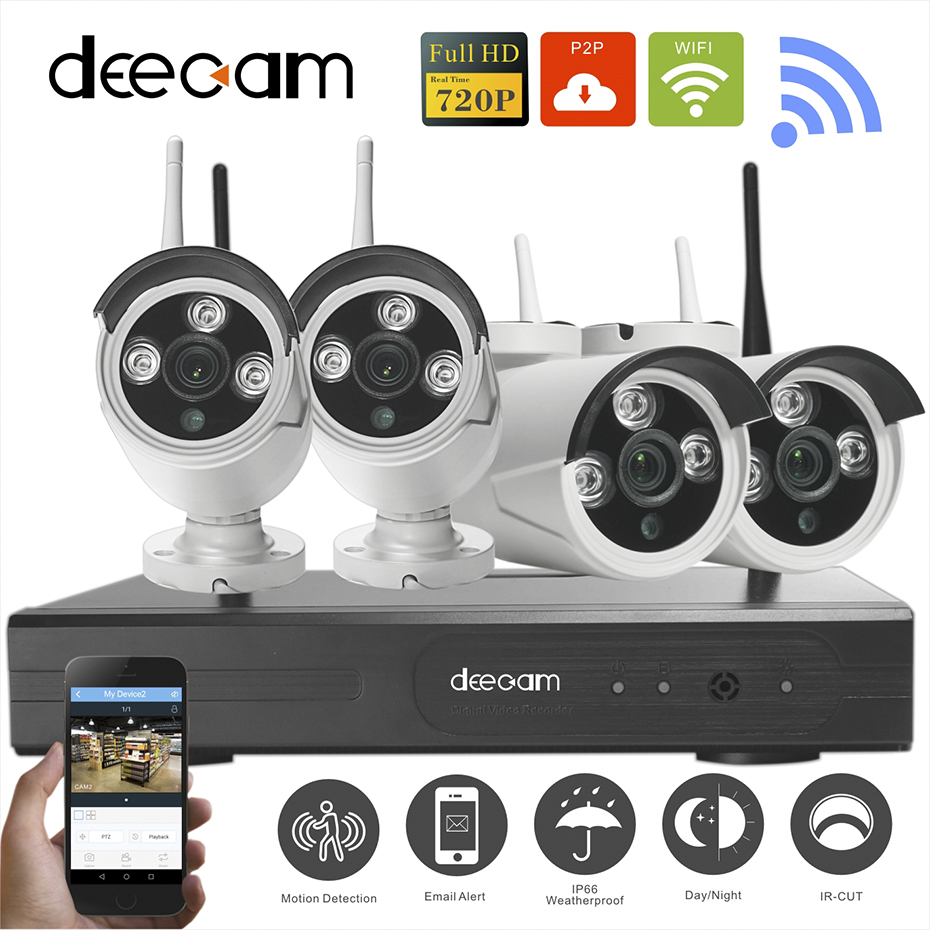 Camera Exterieur Hikvision Aliexpress.com : Buy Deecam 4ch Ir Hd Home Security Wifi