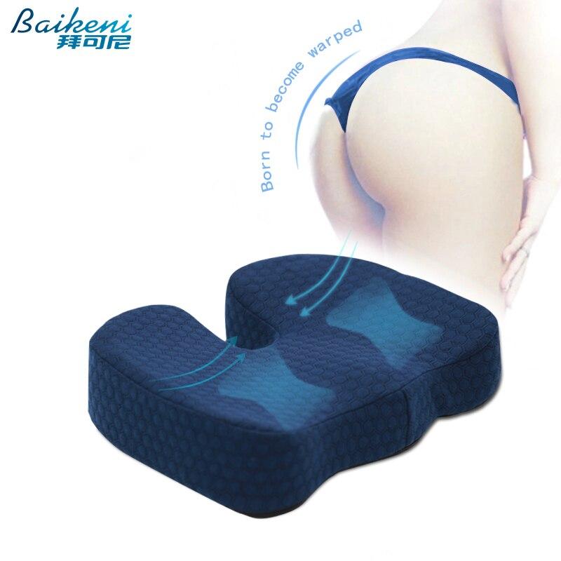 ergonmico de hemorroides cojn del asiento de espuma de memoria silla cojn coxis ortopdica alivio del dolor de la citica par