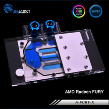 Bykski A FURY X Full Cover Graphics Card Water Cooling Block RGB RBW ARUA for AMD
