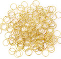 Wholesale 300pcs in bulk Open Gold Jump Rings 8mm Jewelry Findings for Jewelry Making