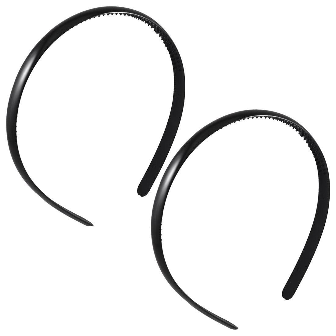 IMC 2 Pcs Black Plastic Frame Dual Row Teeth Hair Hoop Head Band for Girls ark benefit u2 dual black