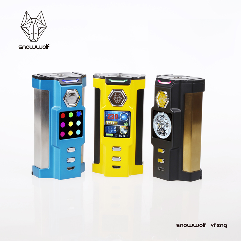 Original Sigelei SNOWWOLF Vfeng Electronic Cigarette Kit Box Mod with Vfeng 510 thread Atomizer 18650 battery vape Vaporizer original electronic cigarette smoant charon ts 218 box mod 510 thread 18650 battery 218w vape mod electronic cigarette vaporzier