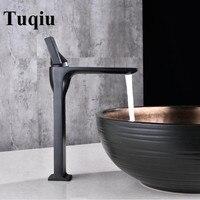 Basin Faucet Black Brass Retro Bathroom Sink Faucet Single Handle Swivel Spout Kitchen Deck Vessel Mixer Tap Torneira lavatorio