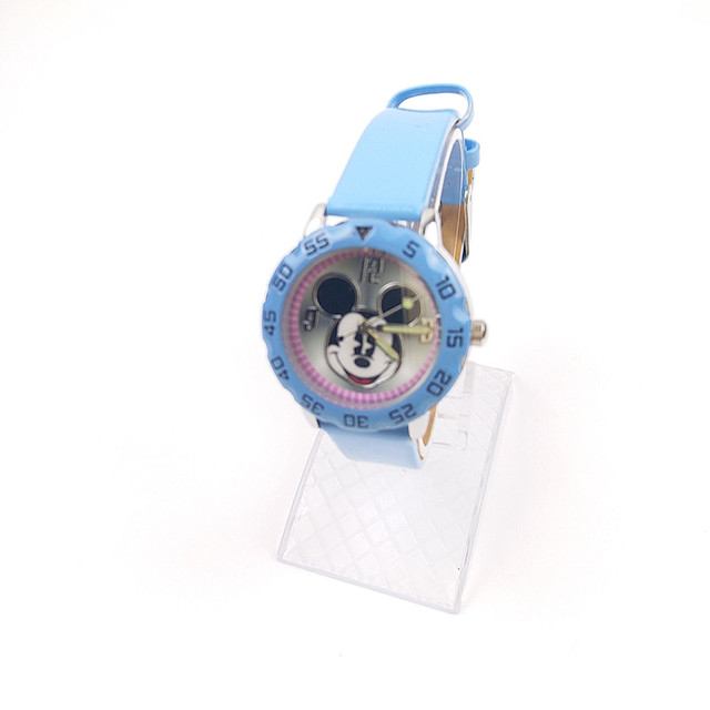1 Unit /lot Retail Fashion Cartoon Mickey Mouse Watches For Girls Women Leather Quartz Clock WristWatch Reloj Vestidos Mujer