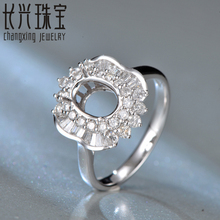 6x8mm oval shape 18K white gold Natural 0.69ct Diamond Engagement Ring Jewelry Semi Mount Setting Ring