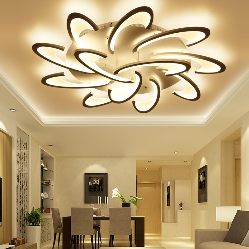 Modern minimalist shaped acrylic LED Ceiling light Nordic romantic creative living room bedroom study restaurant ceiling lamp led circular ceiling lamps chinese real wood art acrylic modern minimalist bedroom study decorated living room ceiling lights za