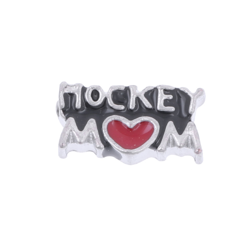 Free Shipping !!(10pcslot ) 2016 New Hockey Mom Floating Charms For Glass Lockets Floating Charms Mix