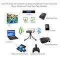 Inteligente Mini Projetor Portátil Android os 1 GB Rom 8 GB ROM construído em 4200 mAh Bateria Orador 2.4G/5G WiFi HDMI USB Casa teatro