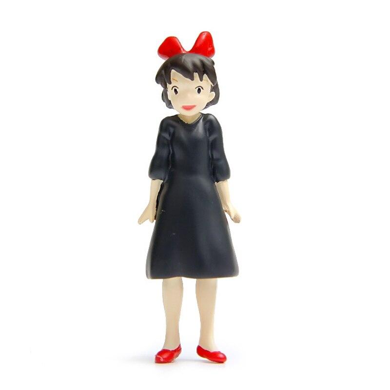 3pcs/lot Studio Ghibli Figures Toy Hayao Miyazaki Kikis Delivery Service Kiki & JiJi Cat & Magic Broom Resin Action Figure Toys